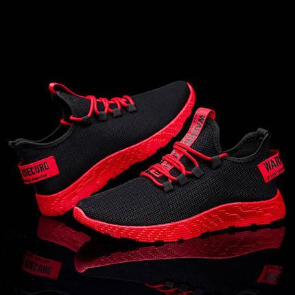 Удобные мужские кроссовки с красной подошвой, фото 2