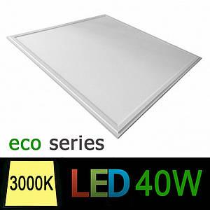 Светодиодная LED панель 600х600 мм ВСТРАИВАЕМАЯ 40Вт 3000К серия ЕСО