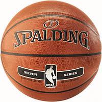Баскетбольний м'яч 7 розмір SPALDING для вулиці універсальний ігровий СПАЛДІНГ NBA Помаранчевий, фото 1