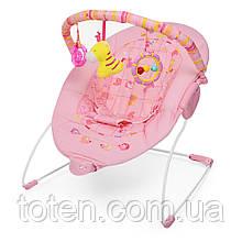 Детский шезлонг-качалка Bambi 6787, розовый