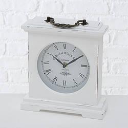 Часы настольные Бетти белые h 24 см L 21 см