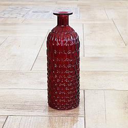 Ваза бутылка Джесси стеклянная h 25 см