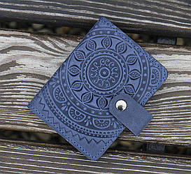 Картхолдер - Визитница ЭТНО синий 8*10.5см
