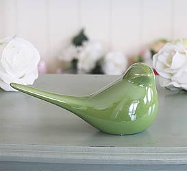 Статуэтка зеленая птица h8см перламутр 1006131-1 зеленая