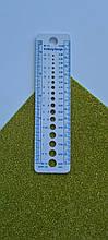 Вимірювач розміру спиць пластмасовий (лінійка 14см)