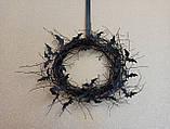 Чорний Вінок на двері з летючими мишами - декор до Хеловіну (Хеллоуїну)., фото 3