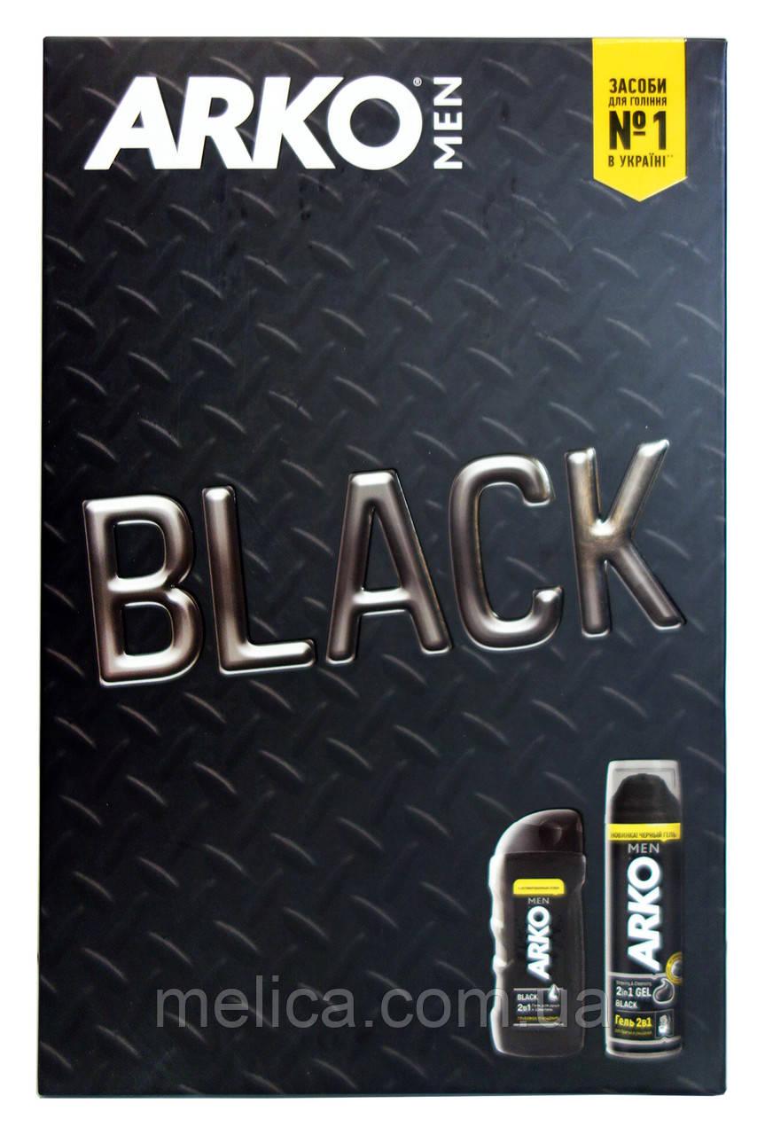 Подарочный набор Arko Men Black (гель для бритья+гель для душа и шампунь 2 в 1)