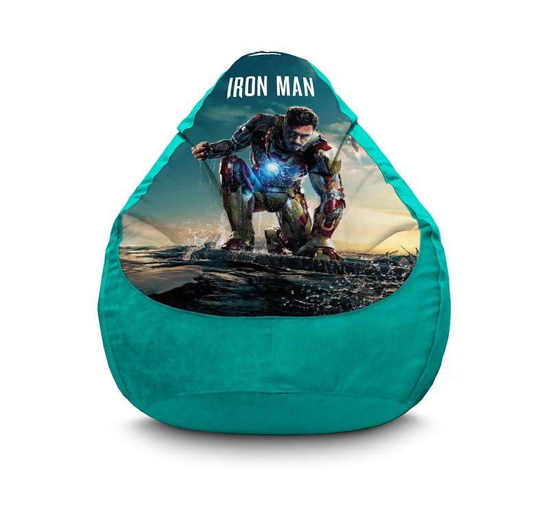 """Кресло мешок груша """"Iron Man 3"""" Флок"""