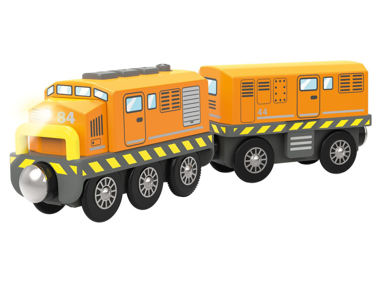 Локомотив с вагоном для деревянной железной дороги Playtive Train Tomas Германия