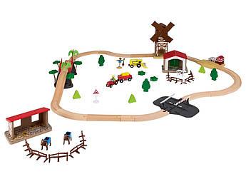 Дерев'яна залізниця Playtive Farm 57 ел.