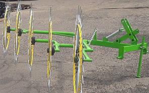 Навісні граблі ворушилки 5-колісні