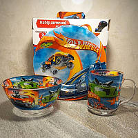 Набор детской посуды 3 предмета Хот Вилс (A9551), фото 1