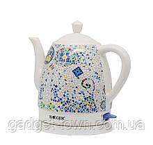 Чайник керамический с принтом Haeger дисковый