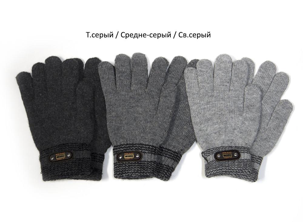 Перчатки вязаные подростковые от 12 лет светло-серый