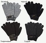 Перчатки вязаные подростковые от 12 лет светло-серый, фото 2