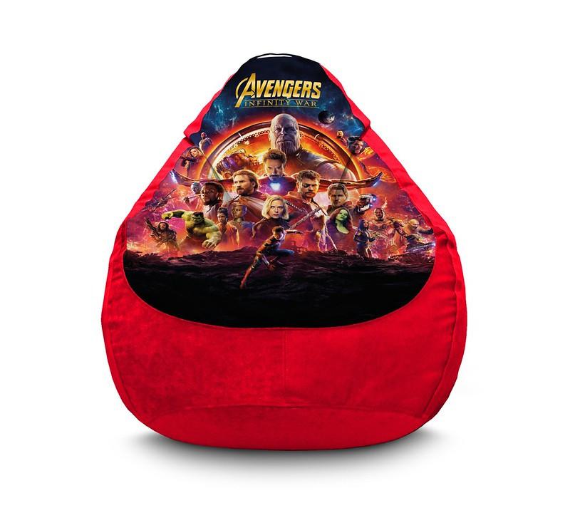 """Кресло мешок груша """"Avengers. Infinity war. Red"""" Флок"""