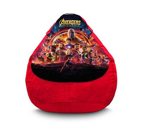 "Кресло мешок груша ""Avengers. Infinity war. Red"" Флок, фото 2"