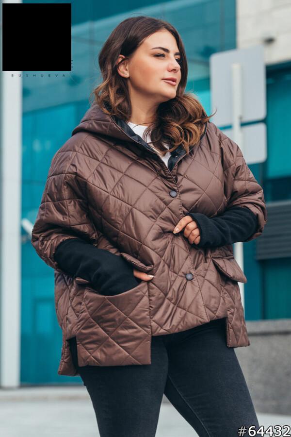 Куртка женская демисезонная стильная размеры: 50-60