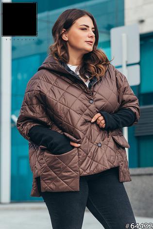 Куртка женская демисезонная стильная размеры: 50-60, фото 2