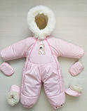 Зимний детский комбинезон на овчине конверт, фото 6