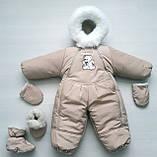Зимний детский комбинезон на овчине конверт, фото 7