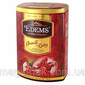 """Елітний чорний чай у подарунковій упаковці """"Гранат Рубін"""" Edems 200г, фото 2"""