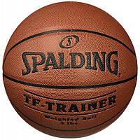 Баскетбольный мяч 7 размер SPALDING тренировочный профессиональный СПАЛДИНГ TF-Trainer Коричневый (NBA-THB_7), фото 1