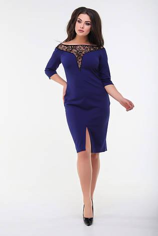 Платье, №98, индиго, 48-58р., фото 2