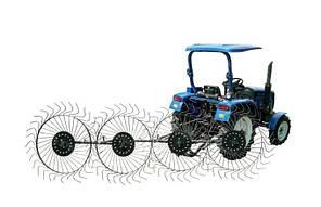 Граблі для трактора ворорилки 4-колісні ПП Крючков