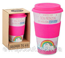 Кофейная кружка to Go Becher 350ml Bambus Den Prinzen