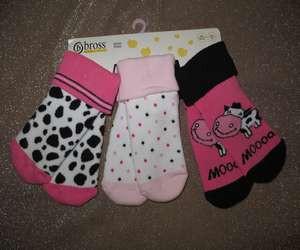 Носочки для новорожденных махровые 10730 коровка му-у-у