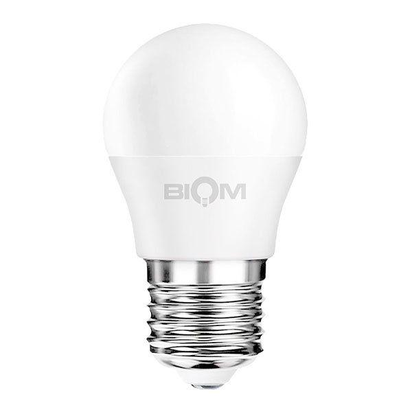 Светодиодная лампа Biom BT-543 теплый свет 3000К 4 Вт G45 E27