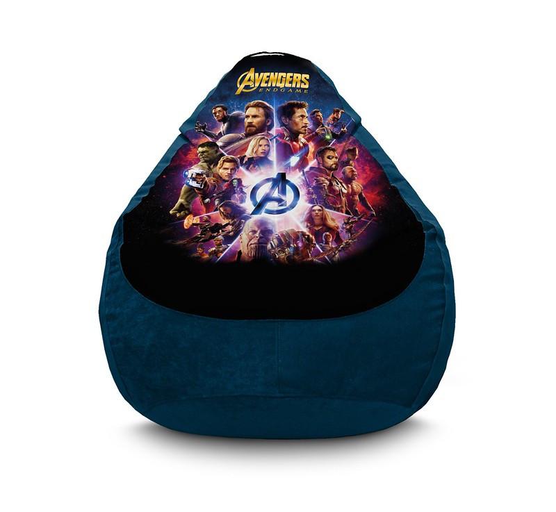 "Кресло мешок груша ""Avengers. End Game. Blue"" Флок"