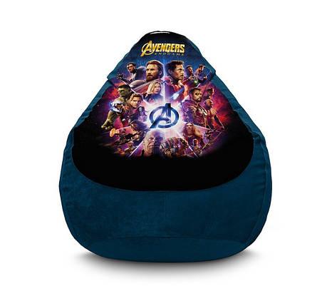 "Кресло мешок груша ""Avengers. End Game. Blue"" Флок, фото 2"