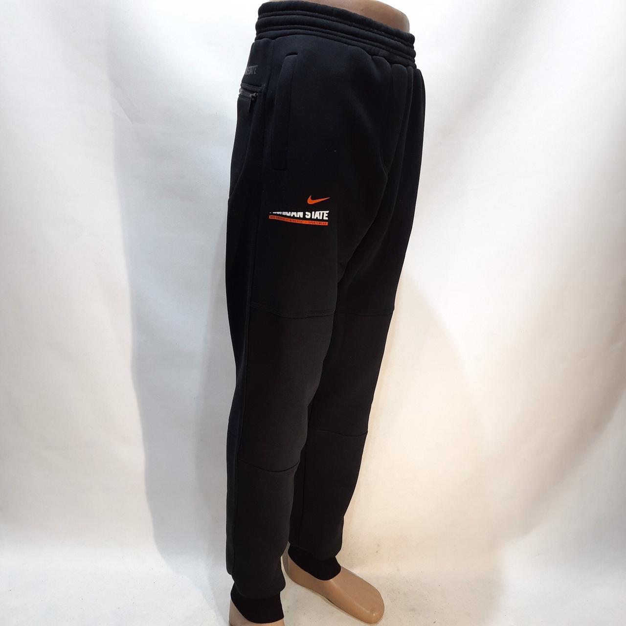 Чоловічі теплі спортивні штани Туреччина штани на манжеті Чорний