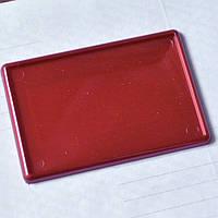 Красные перламутровые заготовки из акрила. Изготовление магнитов. 95х65 мм для фото 89х59 мм