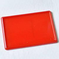 Красные алые матовые магниты акриловые. 95х65 мм, размер фото 89х59 мм