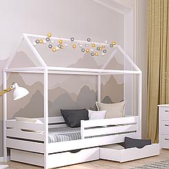 Кровать-домик детская Амми (бук)