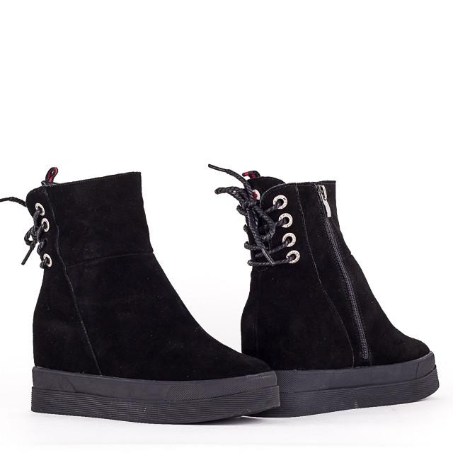 Зимние женские ботинки Allshoes 133-1595M BLACK ZAMSHA ЗИМА 2020-2021