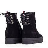 Зимние женские ботинки Allshoes 133-1595M BLACK ZAMSHA ЗИМА 2020-2021, фото 2