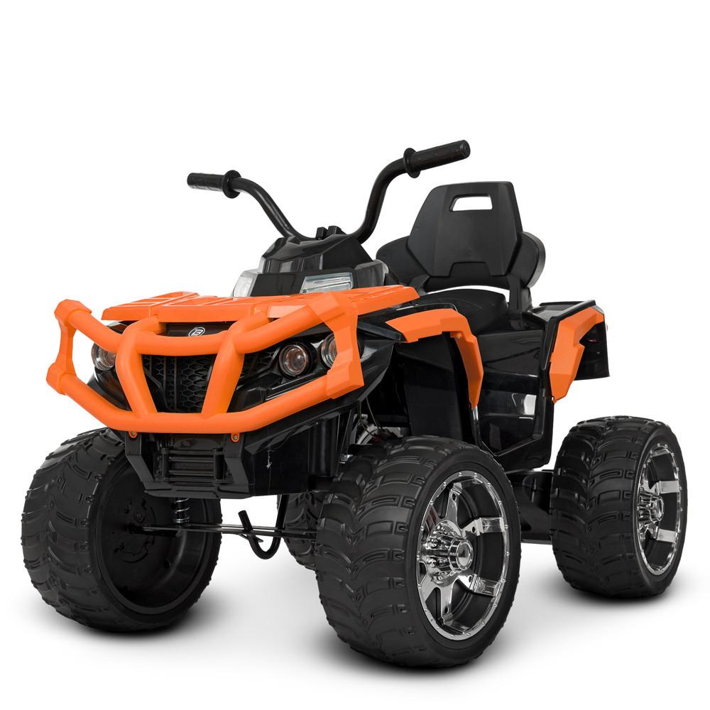 Дитячий квадроцикл M 4266 EBLR-7, шкіряне сидіння, колеса EVA, помаранчевий