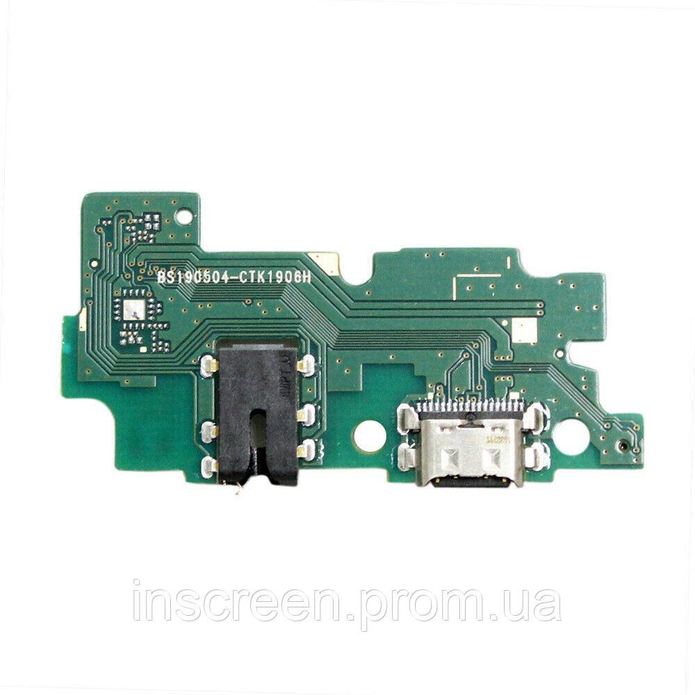 Плата зарядки Samsung A205F Galaxy A20 2019 с разьемом зарядки, разьемом наушников, микрофоном, с микросхемой,