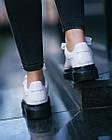 Кроссовки женские реплика Alexander McQueen Oversized Leather With Black Sole 40 Белый (hub_kn26le), фото 4