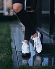 Кроссовки женские реплика Alexander McQueen Oversized Leather With Black Sole 40 Белый (hub_kn26le), фото 5