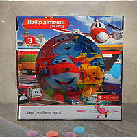 Набор посуды для детей 3 предмета Веселые крылья (A9551)