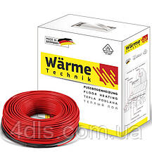Немецкий двухжильный тонкий кабель для теплого пола Wärme Twin flex cable 150 W (площадь обогрева 0,8-1,0 м²)
