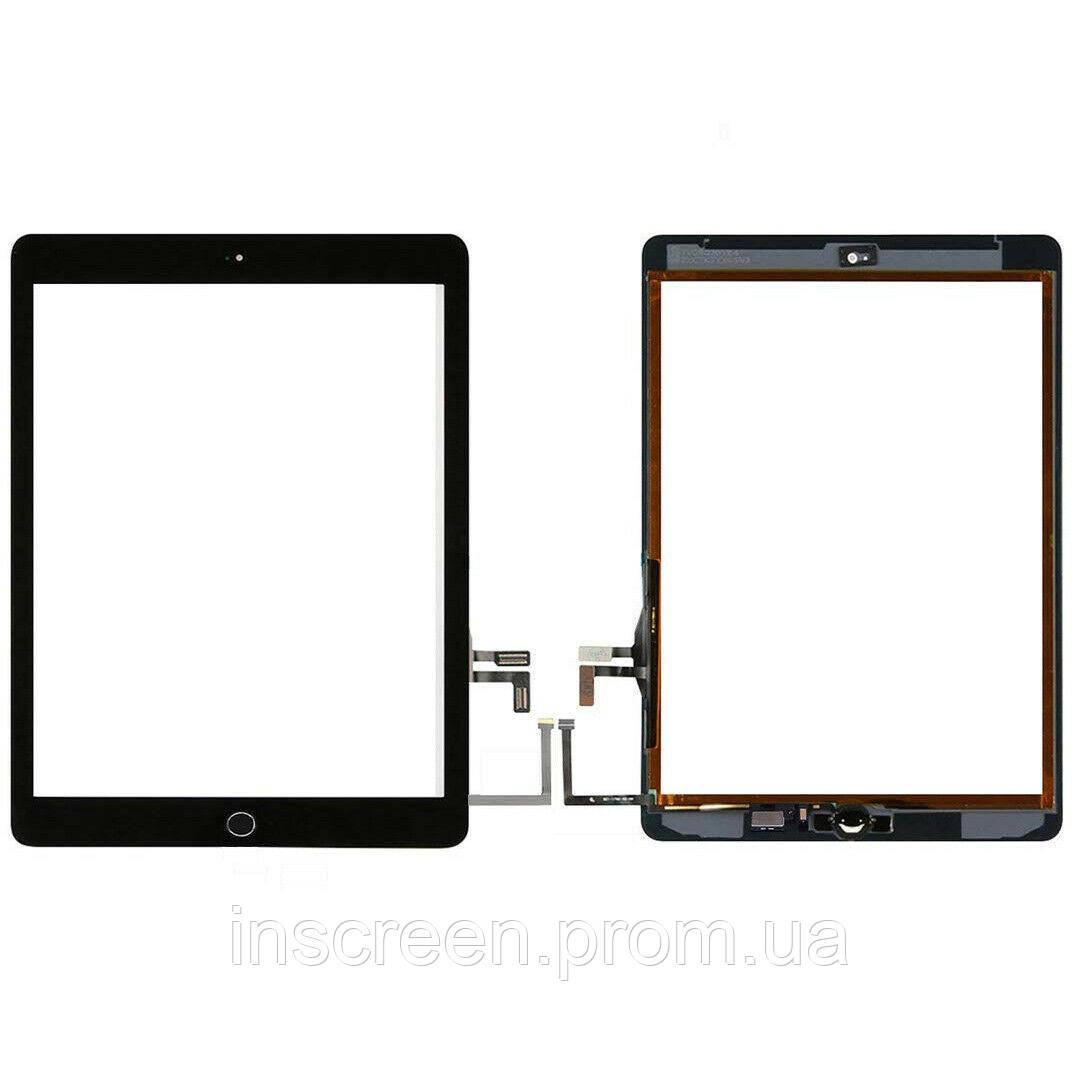 Сенсор (тачскрін) Apple iPad 9.7 2017 A1822, A1823 чорний, повний комплект, Оригінал Китай