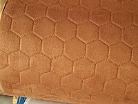 Алькантара на поролоне ткань для обшивки автомобиля пошив чехлов обшивка карт дверных сублимация 550 мокко, фото 1