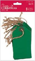 Набор декоративных элементов Зеленые бирки