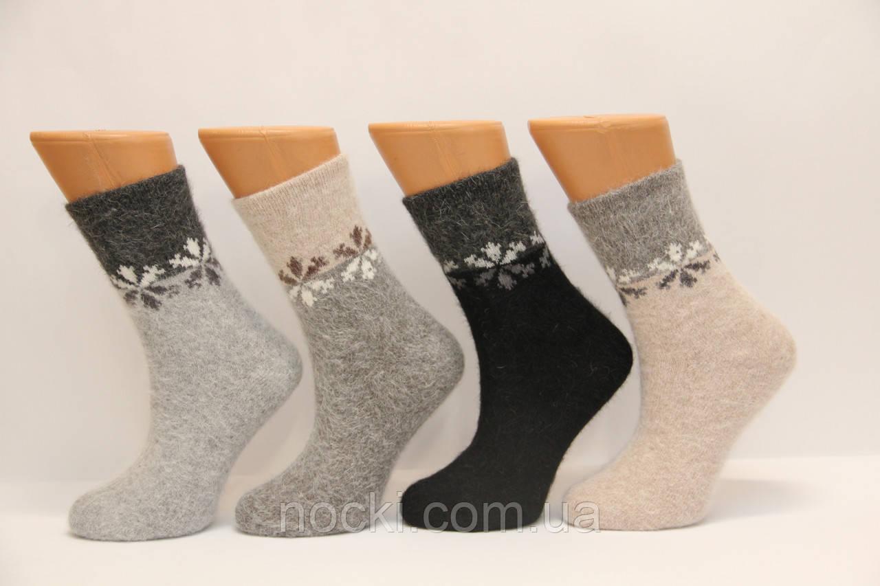 Женские носки с ангоры средние FINOX   м-5 снежинки